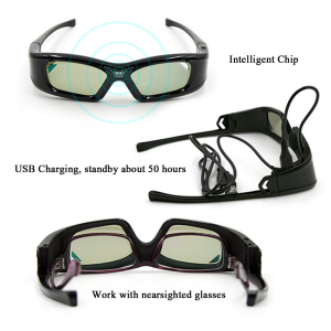 Image 2 - GL410 3D Glasses for Projector Full HD Active DLP Link glasses for Optama Acer BenQ ViewSonic Sharp Dell DLP Link Projectors