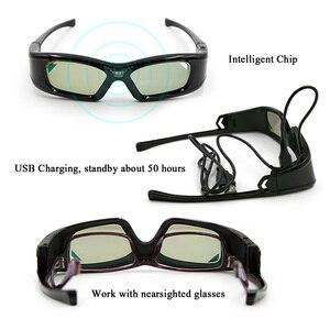 Image 2 - GL410 3D gözlük projektör Full HD aktif DLP Link gözlük için Optama Acer BenQ ViewSonic keskin Dell DLP bağlantı projektörler