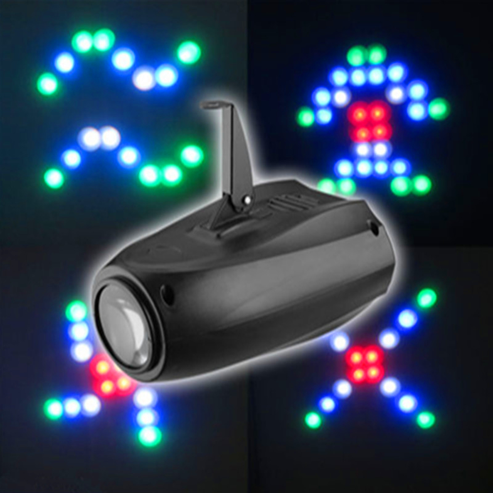 LED Small Airship 64 LEDS RGBW Auto/Sound 10W Moonflower Lighting Magic Pattern Stage Lights Projector For Home Party LED Lamp