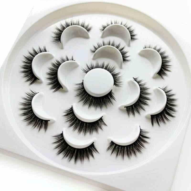 3D норковые волосы Накладные ресницы 15-25 мм ресницы толстые длинные пушистые ручной работы без зверей норковые ресницы инструменты для макияжа