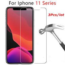 Cristal templado para iPhone, Protector de pantalla de vidrio para iPhone X XR XS MAX 11 pro 7 8 6 6s Plus 5 5s SE 2020, 3 unidades