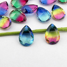 All size teardrop Tourmaline rhinestone pointback pear fancystone multicolor color beads for jewelry decoration T0012