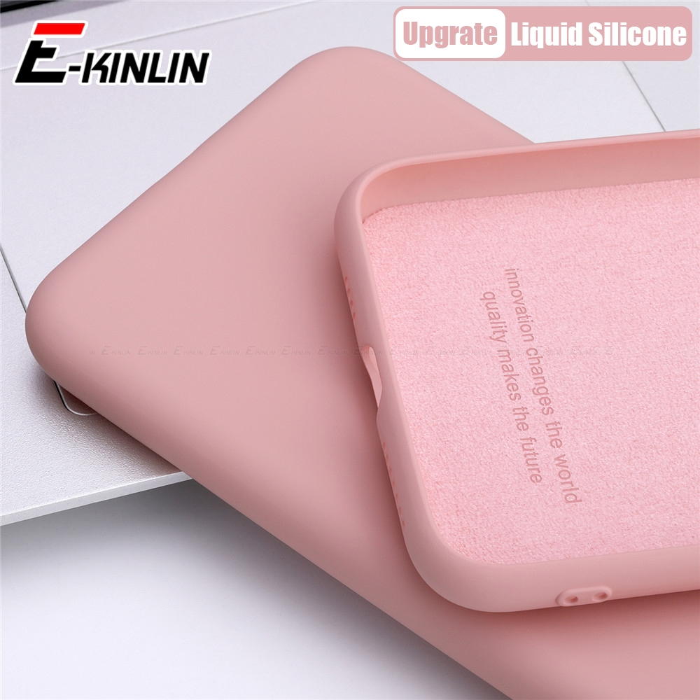 Soft TPU Thin Slim Liquid <font><b>Silicone</b></font> Phone <font><b>Case</b></font> For <font><b>iPhone</b></font> 11 Pro XS Max XR X <font><b>8</b></font> 7 6S 6 Plus SE 2020 <font><b>Original</b></font> Full Protective Cover image