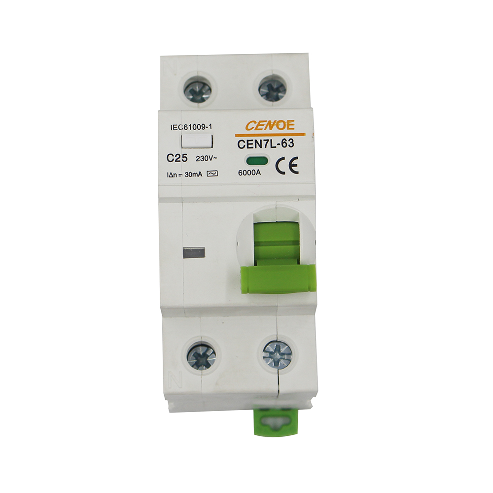 beautiful appearance breaking 6000A residual current circuit breaker leakage protection circuit breaker 16A 32A DPNL1P+N 230V