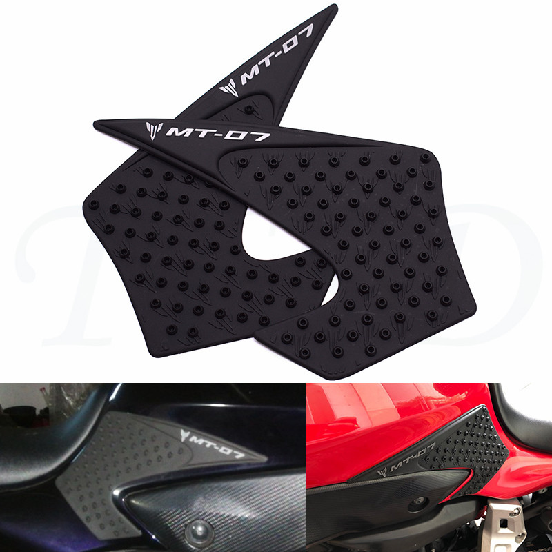 Motorcycle side traction pad side stick tank cushion protection pad anti-slip For Yamaha MT-07 MT07 MT 07 2015 2016 2017 2018