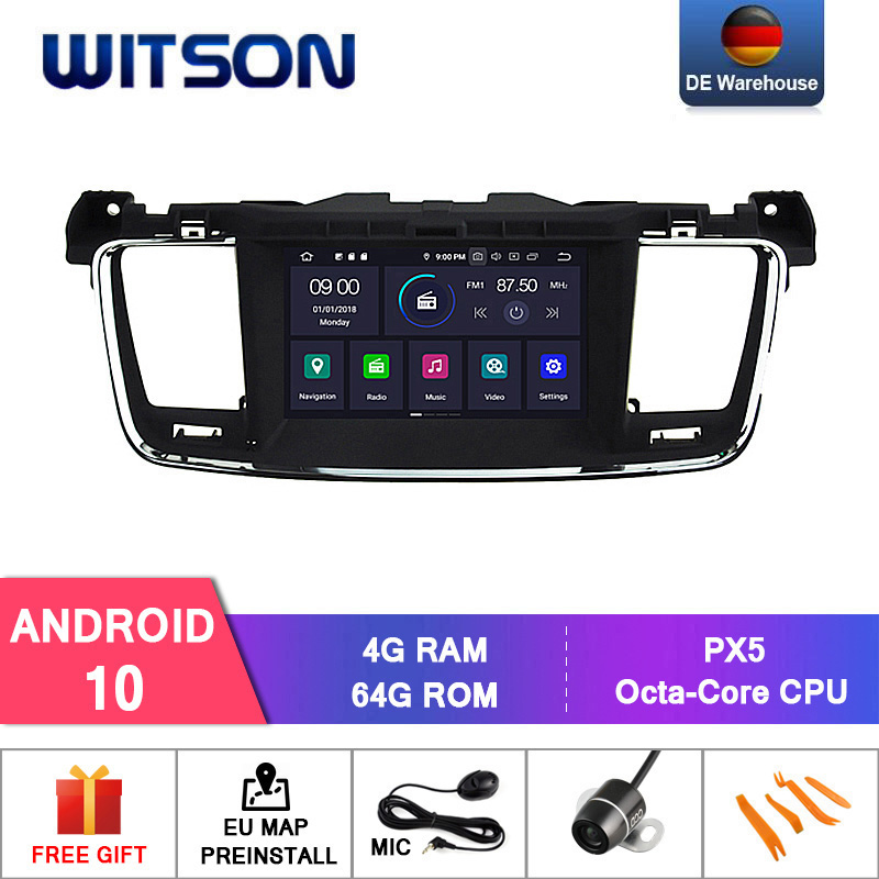 WITSON Android 10,0 IPS HD экран для PEUGEOT 508 GPS радио навигация 4 Гб RAM + 64 Гб FLASH 8 Octa Core Поддержка оригинального автомобиля JBL