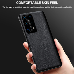 Image 5 - Original Genuine Leather Flip Cover for Huawei P40 Pro Plus Case Mirror Smart Touch View Windows for Huawei P30 P20 Pro Case