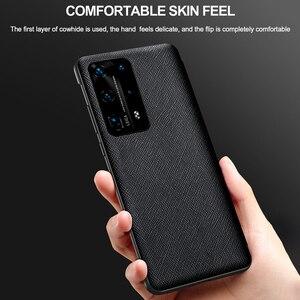 Image 5 - Oryginalne oryginalne skórzane etui z klapką dla Huawei P40 Pro Plus etui lustro inteligentny dotykowy widok Windows dla Huawei P30 P20 Pro przypadku