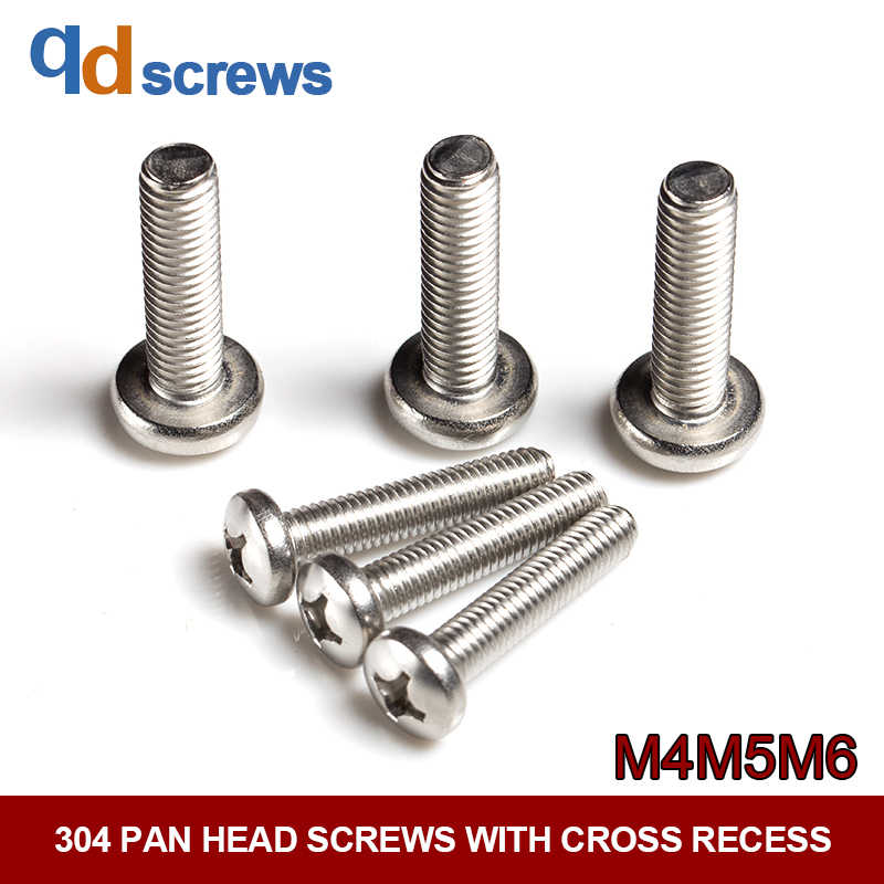 "A2 304 18-8 Stainless Steel #4-40 x 3//8/"" Phillips Pan Head Screws"
