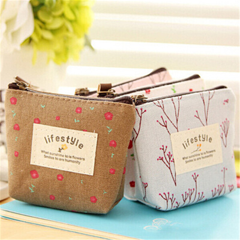 DL Wallet Wholesale Manufacturers Of South Korea Small Fresh Floral Garden Style Coin Purse Bag  Stationery Office Supplies For