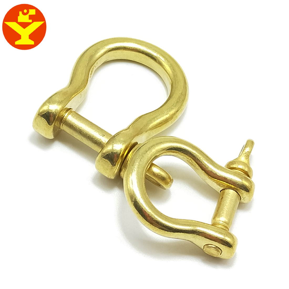 Wholesale U-shaped Buckle Brass Horseshoe Buckle Keychain DIY Genuine Leather Accessories Fine Copper Fiscal Cloth Bag With Hang