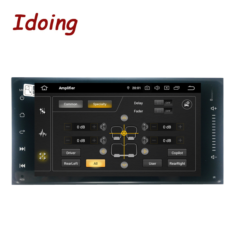 """Image 3 - Idoing 7"""" 1 Din Android 9.0 Car Radio GPS Multimedia Player For Toyota Universal IPS Screen 4G Ram 64G Rom Octa Core NavigationCar Multimedia Player   -"""