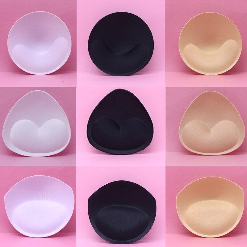 3pairs/Set Bikini Bra Pad Chest Push Up Insert Foam Pads For Swimsuit Padding Removeable Enhancer Bra Pads Underwear Accessories