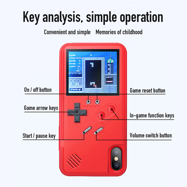 Classic Retro Color Screen Game Mobile Phone Case for IPhone 11 Pro Max 6 6S 7 8 Plus X XS XR XSMAX Back Cover Capinha Etui Capa
