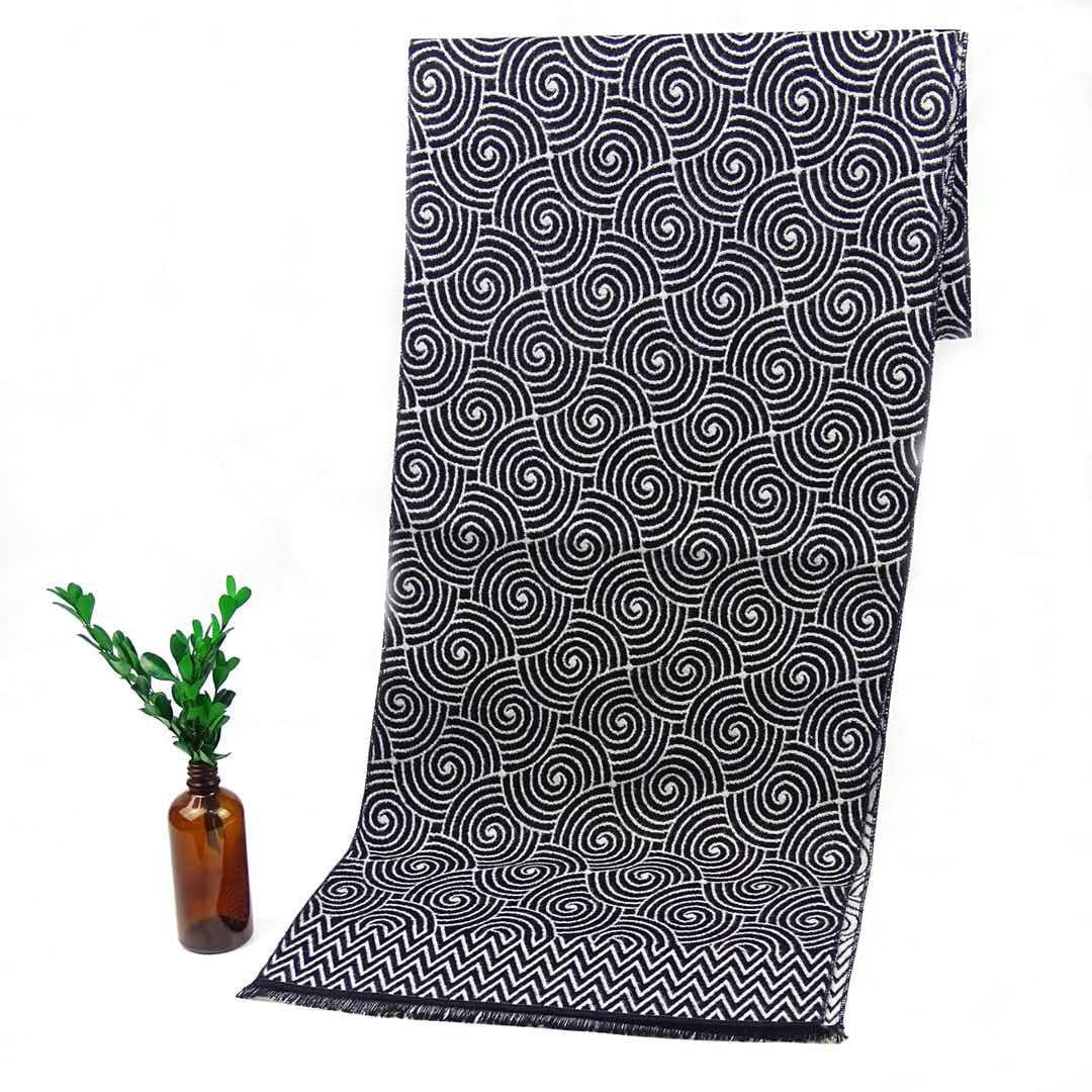 Paisley Print Cravat Silk Scarf Luxury Brand Men Foulard Satin Scarves,Retro Soft Scooter Bandana Pattern Male Shawls And Wraps