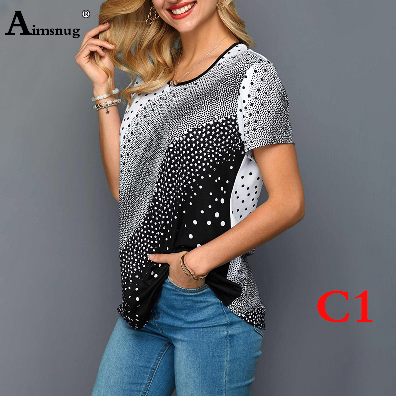 Hb8768c38745d4f6f8e2725c82b9620f1I - Plus size 4xl 5xl Women Fashion Print Tops Round Neck Short Sleeve Boho Tee shirts New Summer Female Casual Loose T-shirt
