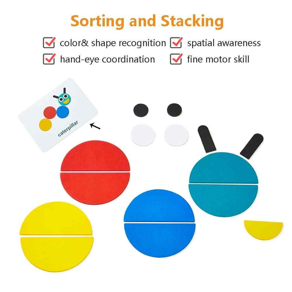 Деревянные головоломки с животными головоломки сортировки и укладки игр Обучающие игрушки Монтессори для малышей