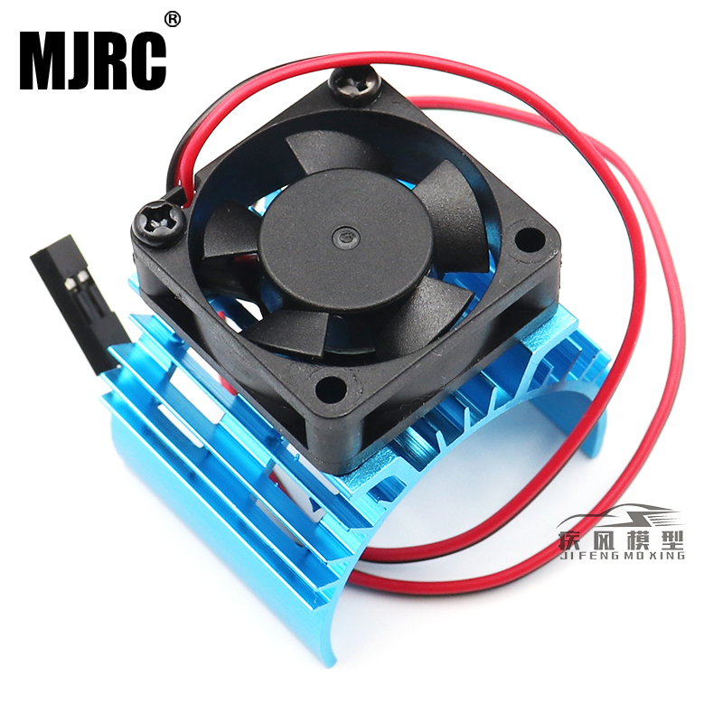 KYX Racing Alloy Heatsink with Cooling Fan for RC Crawlers 540 550 Size Motor Blue