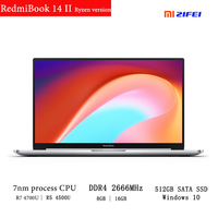 New 2020 Xiaomi RedmiBook 14 Ⅱ Laptop AMD Ryzen version 7nm process CPU DDR4 ram 512GB SSD 14 Inch FHD Screen mi Notebook