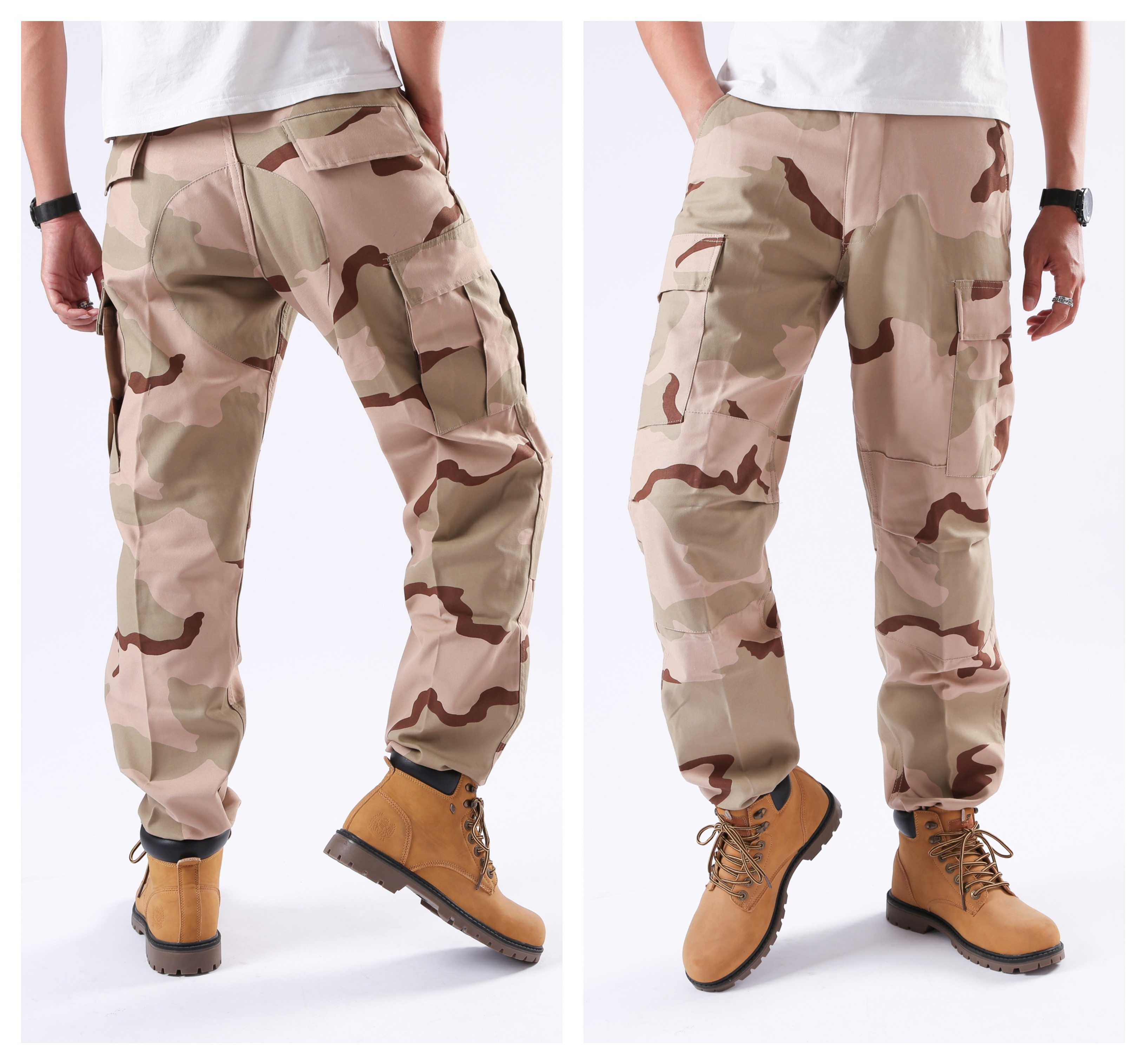 Mens Military Army Combat BDU Pants Street Fashion Casual Work Hunt Cargo Pants - Zipper Fly