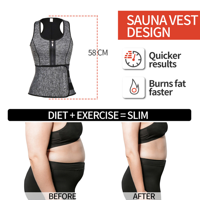 Neoprene Sauna Waist Trainer Vest  Shaper Summer Workout Shaperwear Slimming Adjustable Sweat Belt Fajas Body Shaper 5
