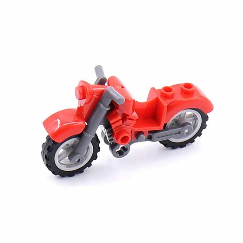 Armas militares de motocicleta soldados SWAT ejército ciudad policía montar bloques de construcción accesorios armas WW2 niños juguetes niño regalos