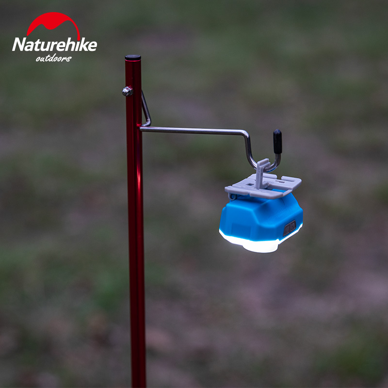 Naturehike Outdoor Portable Camping Picnic Light Pole Travel Aluminum Alloy Folding Camp Lantern Hanger Tent Lamp Pole