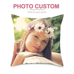 Fuwatacchi Custom Cushion Cover DIY Customized Throw Pillow Home Decorative Square Printing Pillowcase Sofa Cushion 45*45CM(China)
