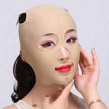 1pc rosto elástico emagrecimento bandagem v linha rosto shaper mulher queixo bochecha levantar cinto facial anti rugas cinta cuidados com o rosto ferramentas
