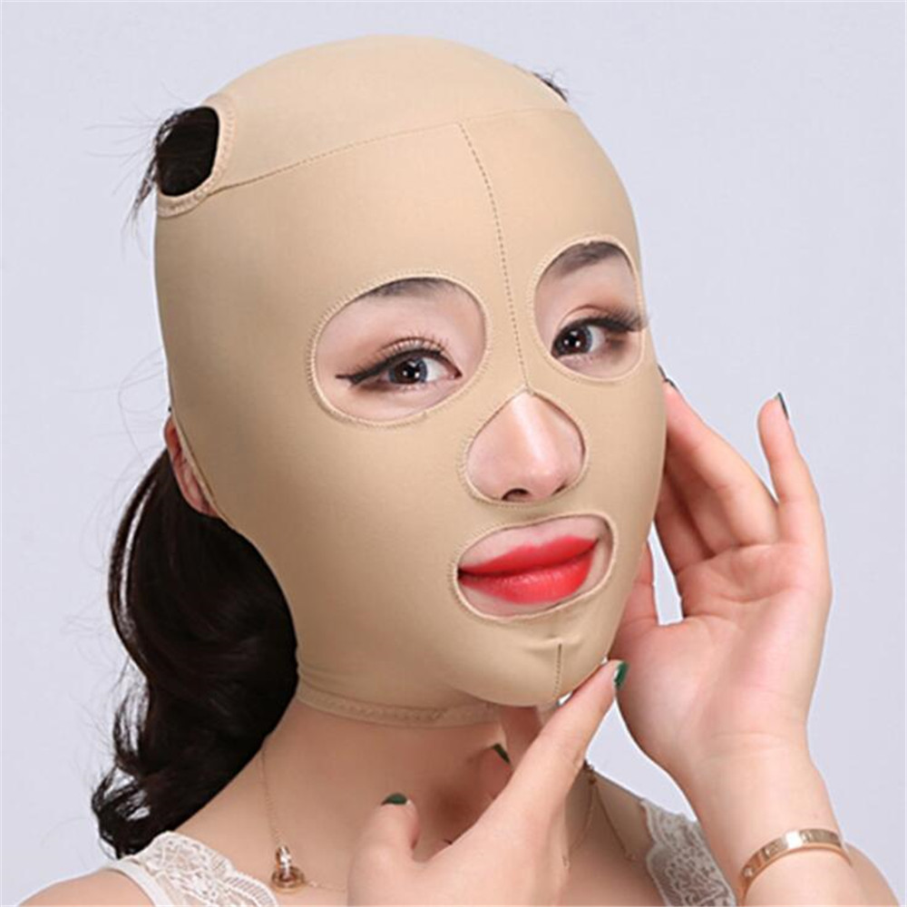 1pc Elastic Face Slimming Bandage V Line Face Shaper Women Chin Cheek Lift Up Belt Facial Anti Wrinkle Strap Face Care Tools