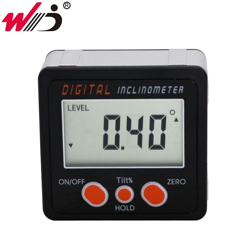 Magnetic Digital Protractor Horizontal Angle Finder Bevel Level Box Inclinometer