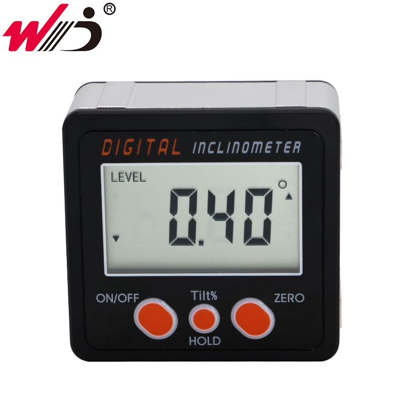 Digital Bevel Protractor With Magnet Angle Finder Meter Inclinometer Level Box