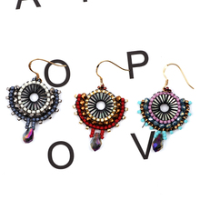 FAIRYWOO Geometric Pendientes Brincos	Silver 925 Drop Earrings Jewelry Handmade Delica New Fashion Bohemian