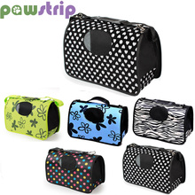 pawstrip 1pc 7 Patterns Small Dog Carrier Bag Folding Portable Cat Carrier Puppy Shoulder
