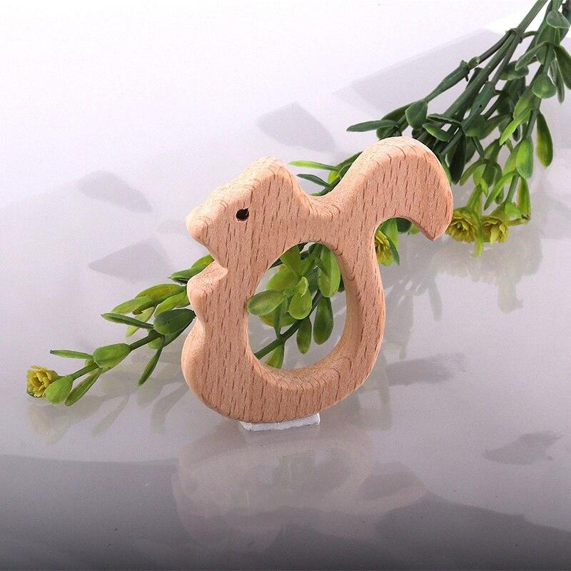 В форме животных детское дерево прорезыватель из дфп бесплатно малыш Прорезыватель дерево бисер ребенок прорезывание зубов игрушки из бука Прорезыватель кольцо детские жевательные игрушки