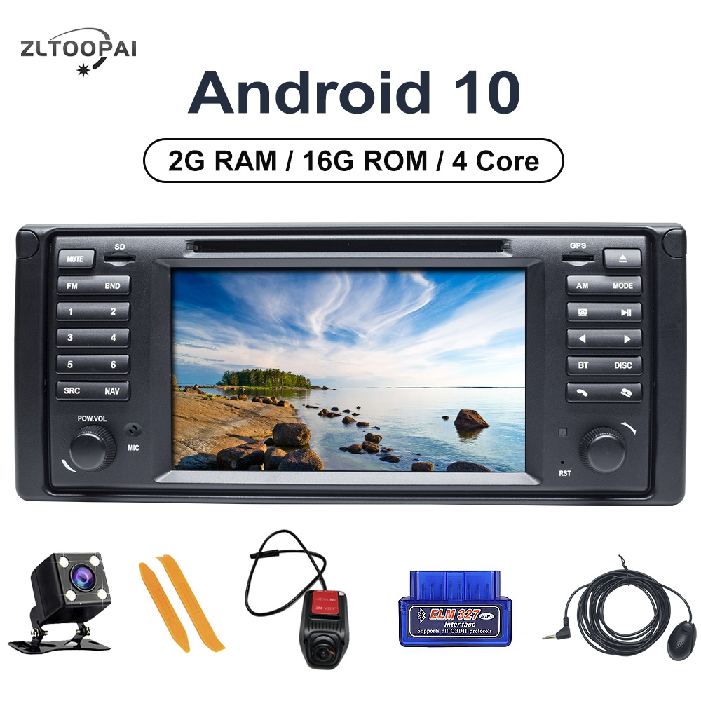 Android 10 Car Multimedia Player For BMW <font><b>E53</b></font> X5 E39 Multimedia DVD CD Player GPS Navigation Audio Stereo Auto Radio 1Din image