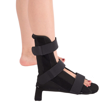 Tobillera de Color negro para pies, esguince, lesiones, envoltura para el dolor, corrección, férula de pie con soporte, 1 pieza
