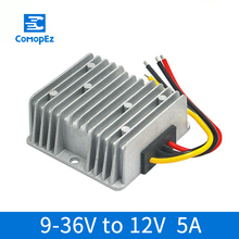 цена на DC Converter 9V 36V to 12V 5A 60W Automatic Buck-Boost Module IP67 Waterproof Converter DC Regulated Power Supply for Golf Carts
