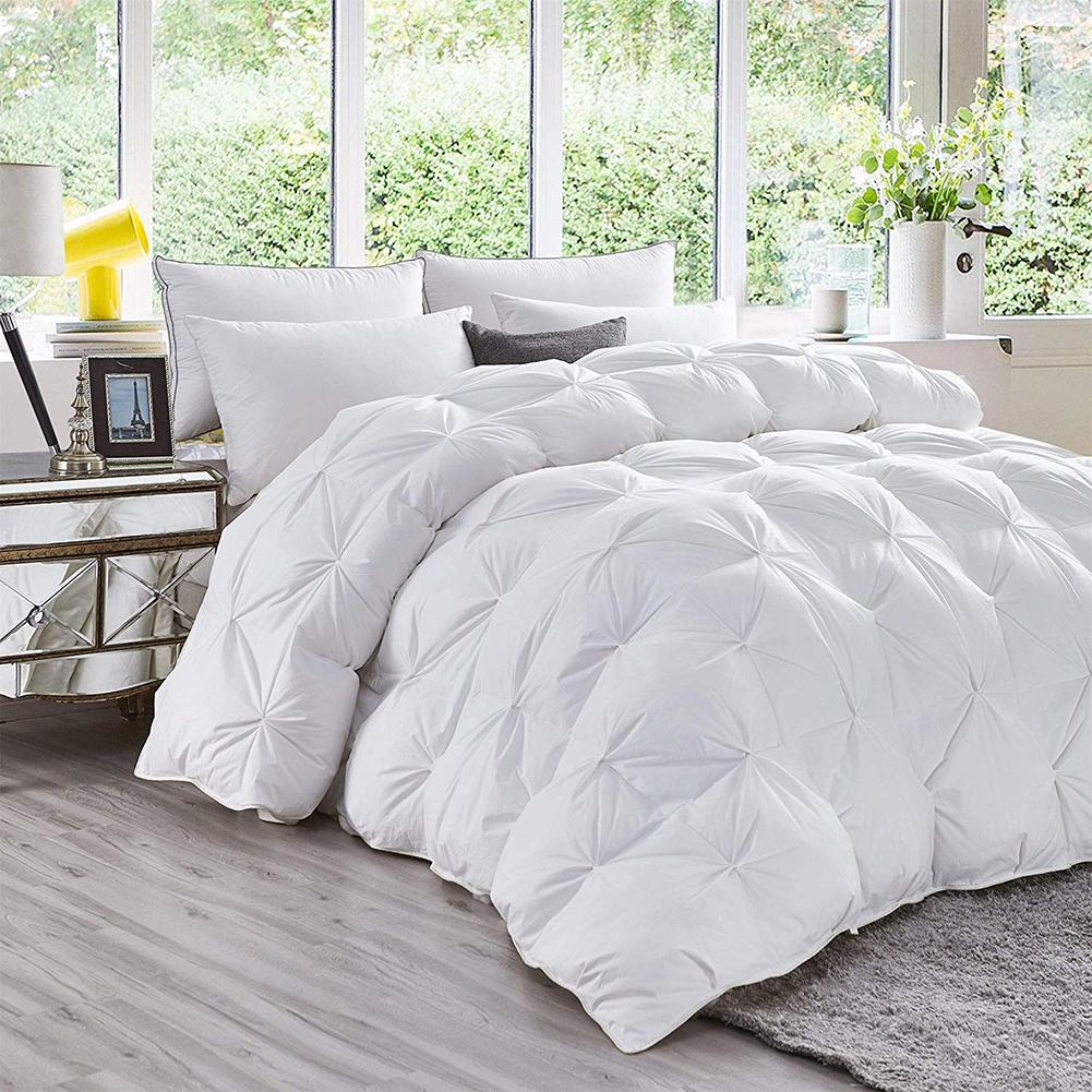 Luxury 4D Soft Goose Down Duvet Core Washable Exquisite Fluffy Thick Winter Bedding Warm Feather Quilt Duvet Core For Home Hotel