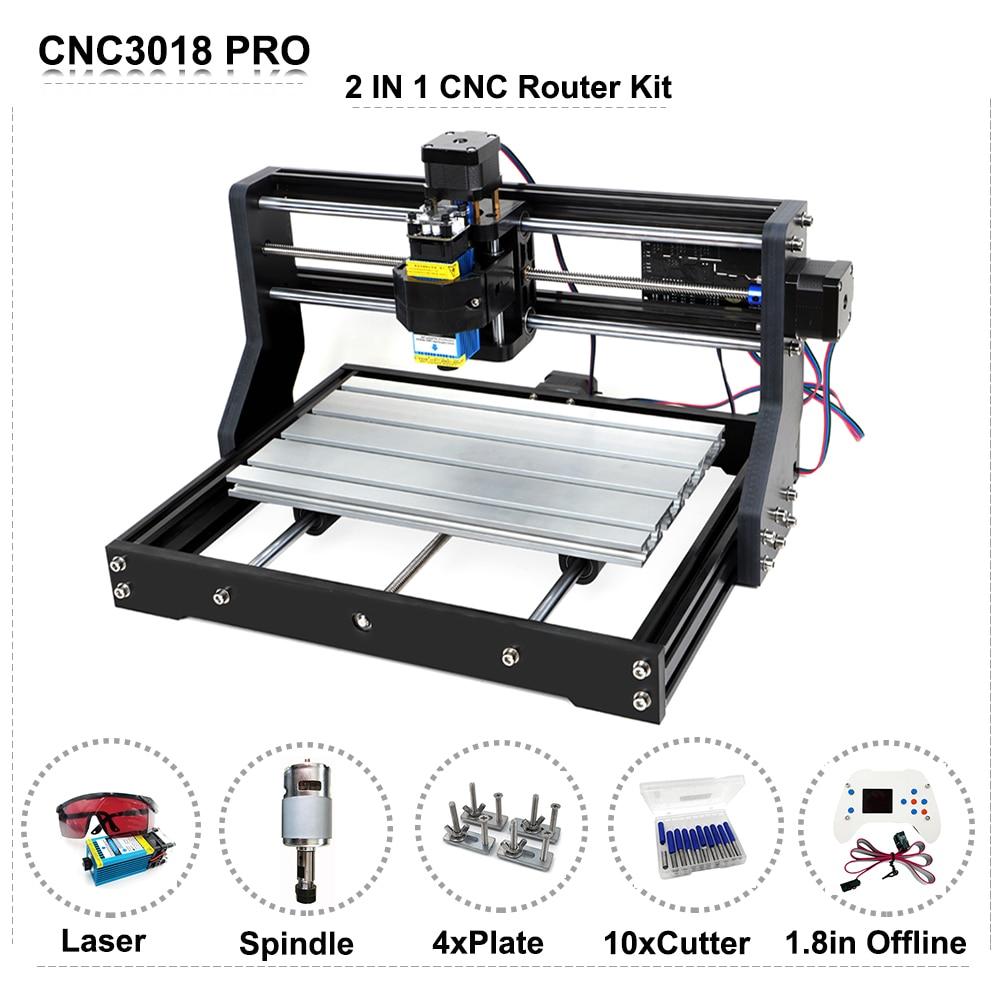 DIY CNC 3018 Pro Router Curve Engraving Machine Laser Engraver GRBL Offline Control 500mW 2500mW 5500mW 15W