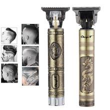 Электрический триммер для волос T9, перезаряжаемый с разъемом USB, Беспроводная Бритва, триммер 0 мм для мужчин, машинка для стрижки волос