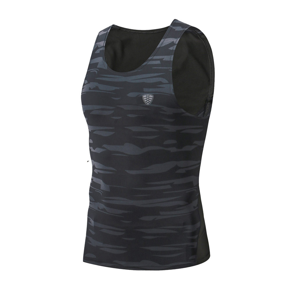 New Mens Gym Running Vest Camouflage Green Tank Top Quick Dry Workout Fitness Sports Training Basketball Bodybuilding Vest 4XL in Running Vests from Sports Entertainment