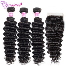 Cynosure Deep-Wave-Bundles Human-Hair Double-Weft with Remy