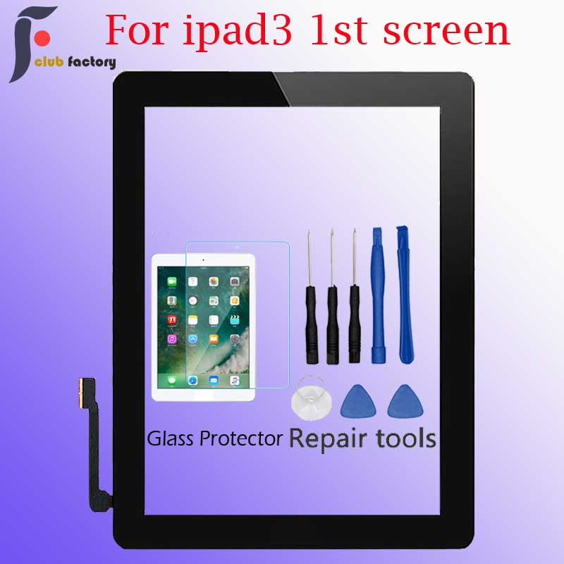 Digitizer For IPad 3 (Black/White) 9.7 Inch Touch Screen A1416 A1430 A1403  LCD Outer Touch Screen Digitizer Front Glass Panel