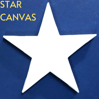 High Quality Art Supply Star Stretched Canvas ready For Painting, for All media. Exclusive FIVE Time Primed Artist Canvas paint