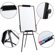 Double side Whiteboard Stand Dry Eraser White Board With 2 whiteboard markers 1 detergent 1 square towel 8 magnetic stickers HWC