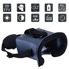 LS-008D 5.8G FPV Googles Vr Glasses 40CH with 2000MA Battery DVR Diversity For RC Model(China)