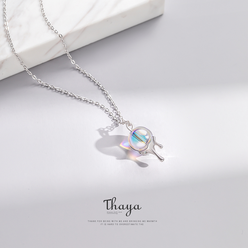 Image 4 - Thaya Rainbow Bubble Necklace 925 Silver bohemia choker Necklace for Women Original Design Jewelry-in Necklaces from Jewelry & Accessories