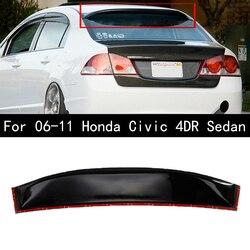 Auto Hinten Fenster Dach Spoiler Flügel Visier Glänzend Schwarz Für Honda Für Civic 4DR 2006-2011 4 Tür Limousine auto Zubehör Auto Styling