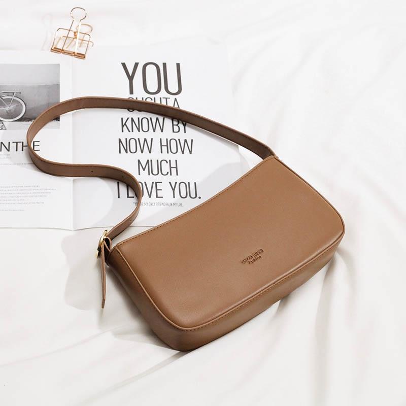 Women Small Shoulder Bag Vintage Baguette Bag Zipper Messenger Pack Mediaeval Style Bolsa Feminina Female Retro Totes Bag